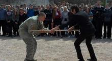 В Севастопольской школе провели показательное занятие по русскому рукопашному бою